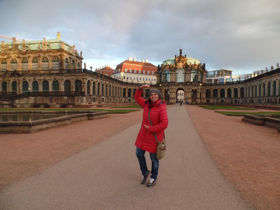 Dresdner Altstadt: Natalie im Zwinger