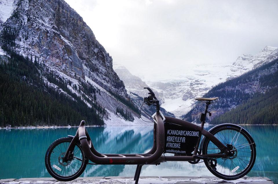 Kanada mit Cargobike von Triobike Rocky Mountains