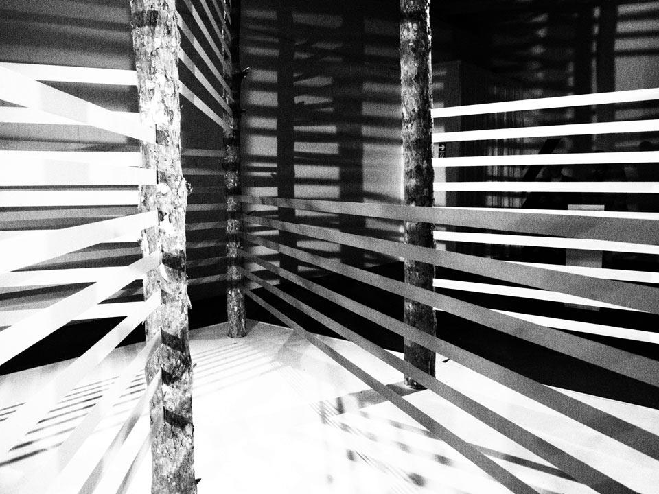 Olympus Playground Istallation Day schwarz-weiß